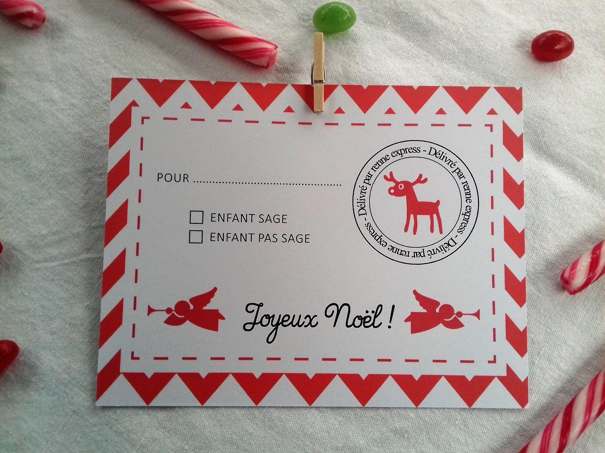 Kit De Décoration | Cartes De Noël Pour Enfants, Carte intérieur Carte Joyeux Noel À Imprimer