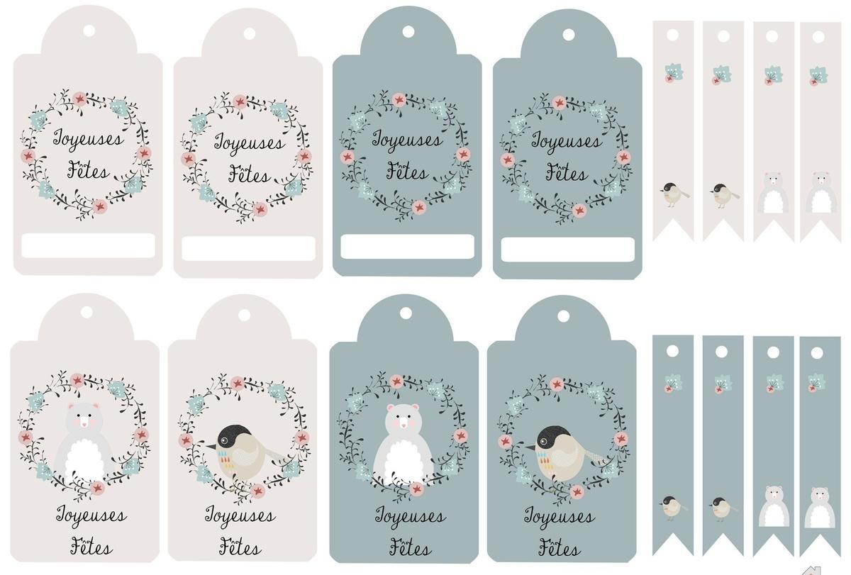 Kit De Noël À Imprimer : Étiquettes , Petites Cartes , To Do encequiconcerne Etiquette Noel À Imprimer
