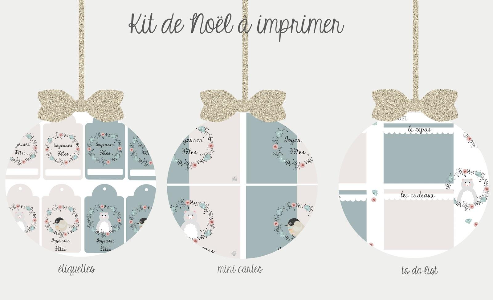 Kit De Noël À Imprimer {Version 2015} - Avec Ses 10 Ptits à Etiquette Noel À Imprimer