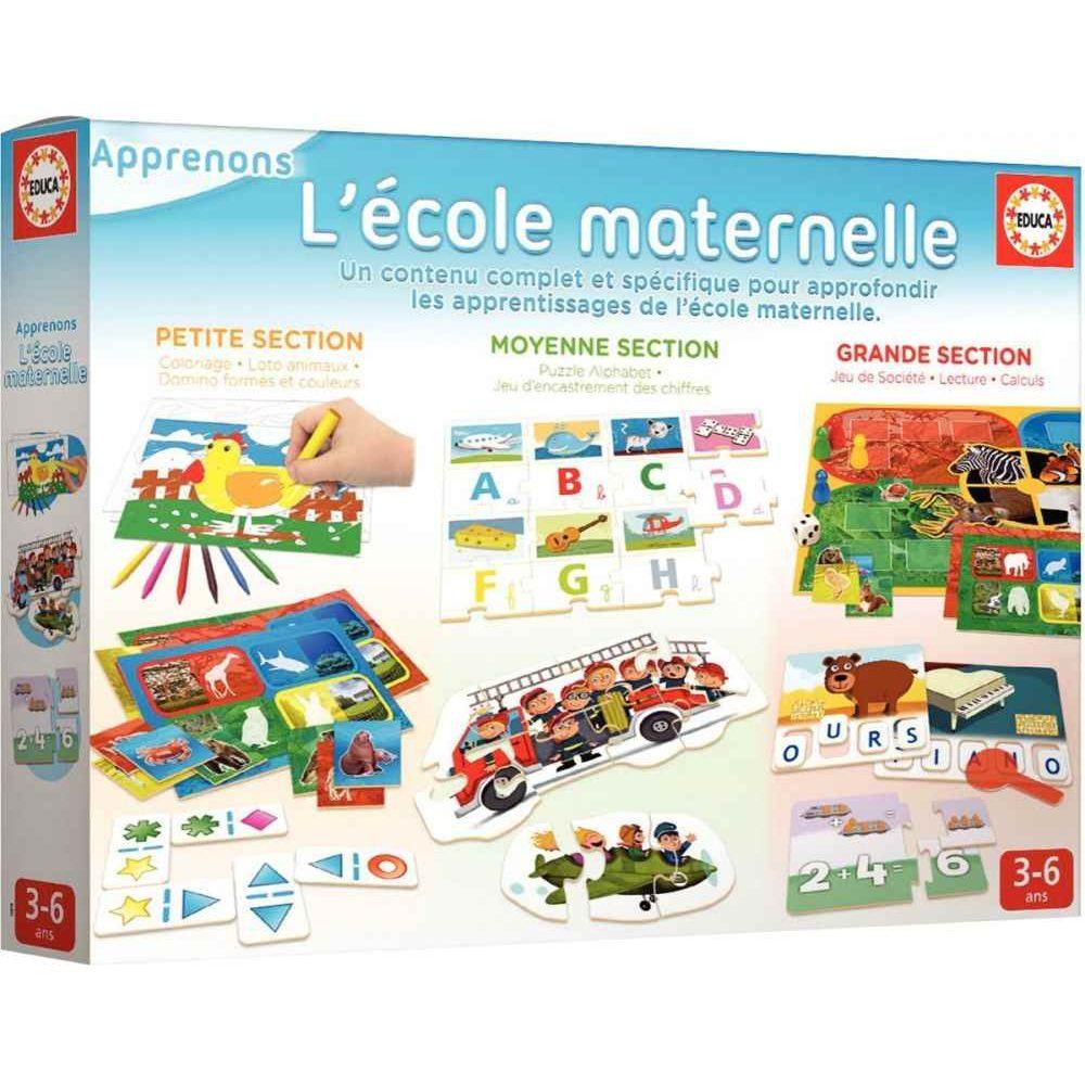 Kit L'école Maternelle - Educa | Jeux De Société Sur Planet serapportantà Jeux Pour Petite Section