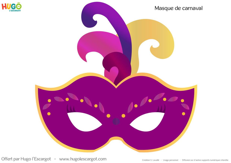 Kit Masques De Carnaval À Imprimer pour Masque Loup A Colorier