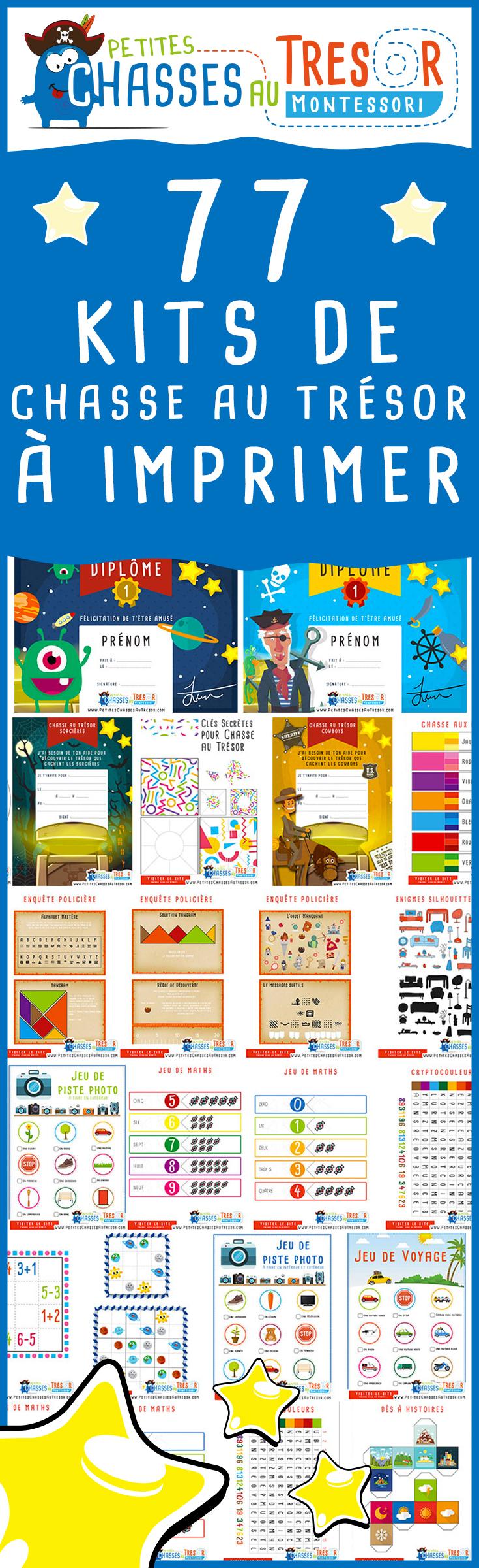 Kits Chasse Au Trésor Pour Enfants À Imprimer Gratuitement intérieur Jeux Enfant 4 Ans Gratuit