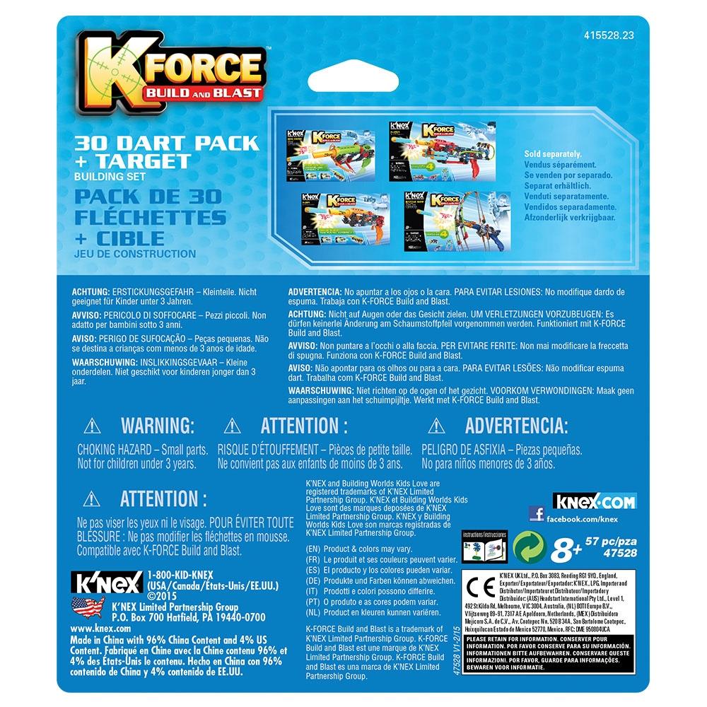 Knex K-Force Hedefli 30 Mermi Seti 47528 intérieur Jeu Force 4
