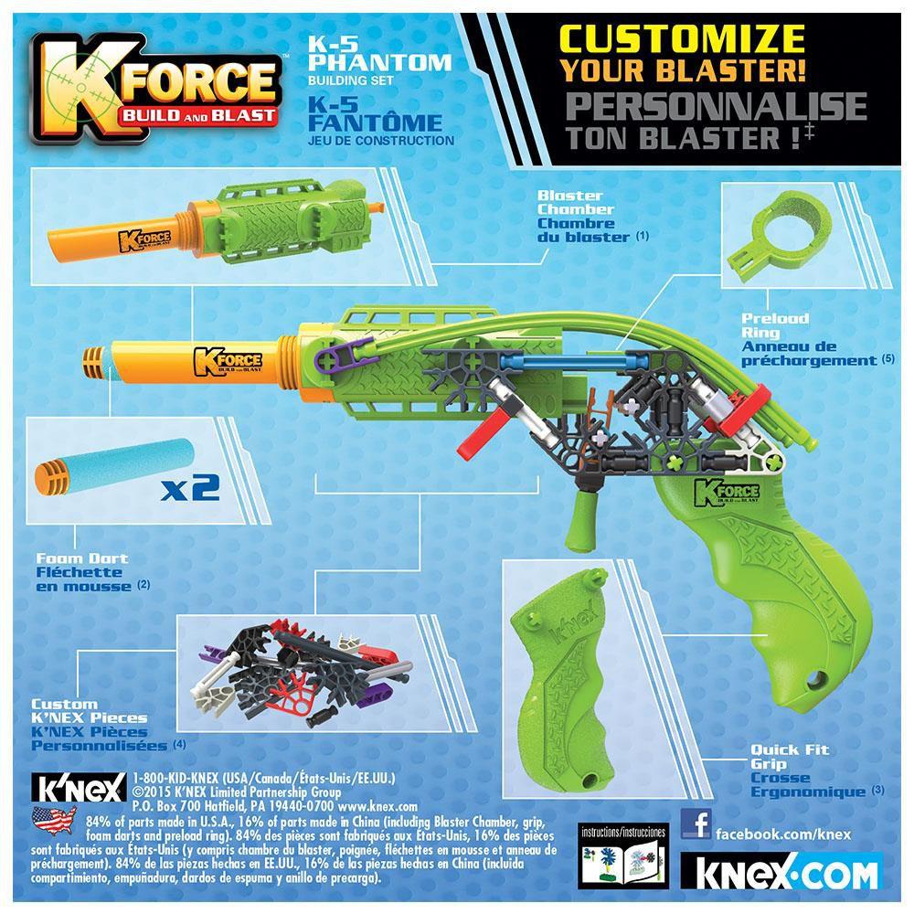 K?nex K-Force K-5 Phantom Yapı Seti Knex 47538 dedans Jeu Force 4