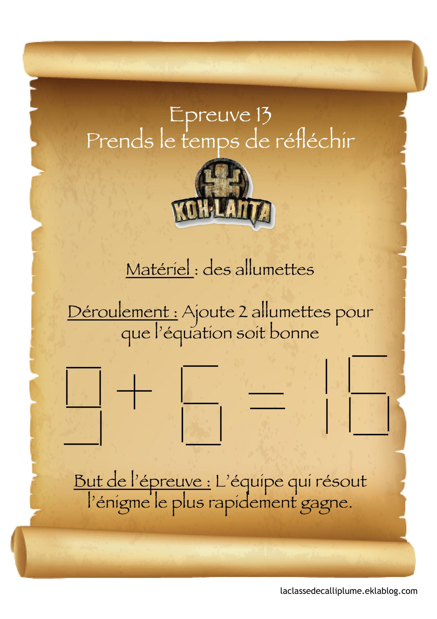 Koh Lanta À L'école ! - La Classe De Calliplume destiné Sudoku Junior À Imprimer