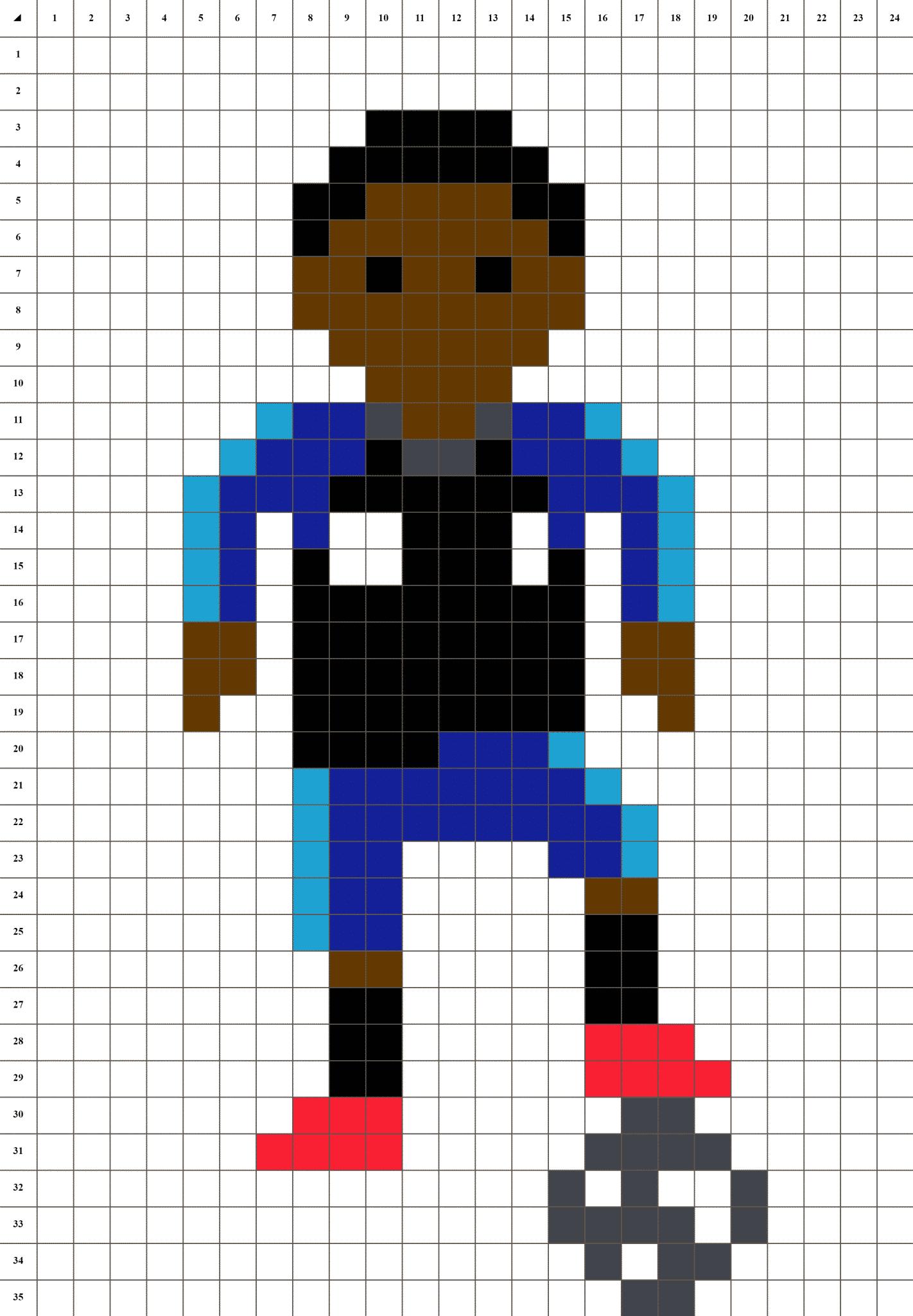 Kylian Mbappé - Pixel Art Foot   La Manufacture Du Pixel pour Modele Dessin Pixel