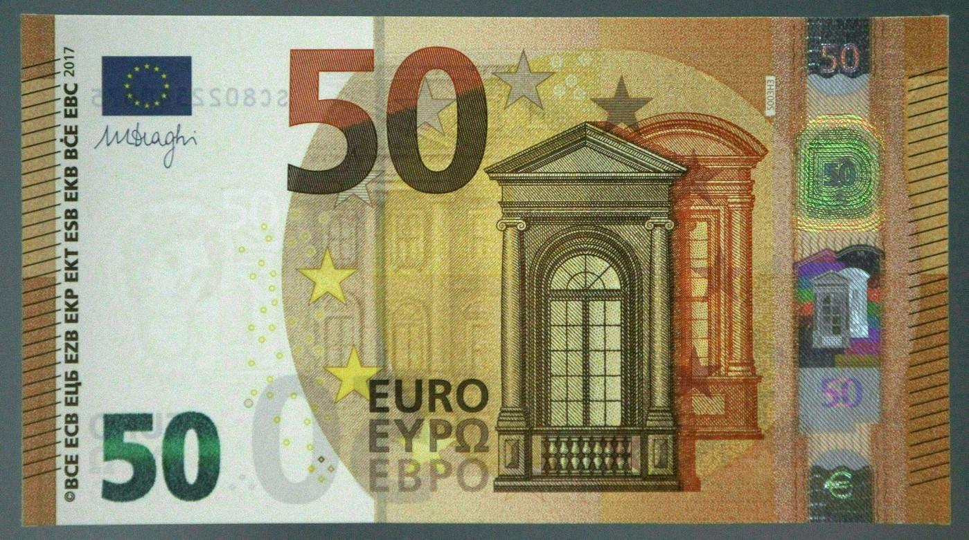 La Bce Présente Le Nouveau Billet De 50 Euros pour Billet De 5 Euros À Imprimer