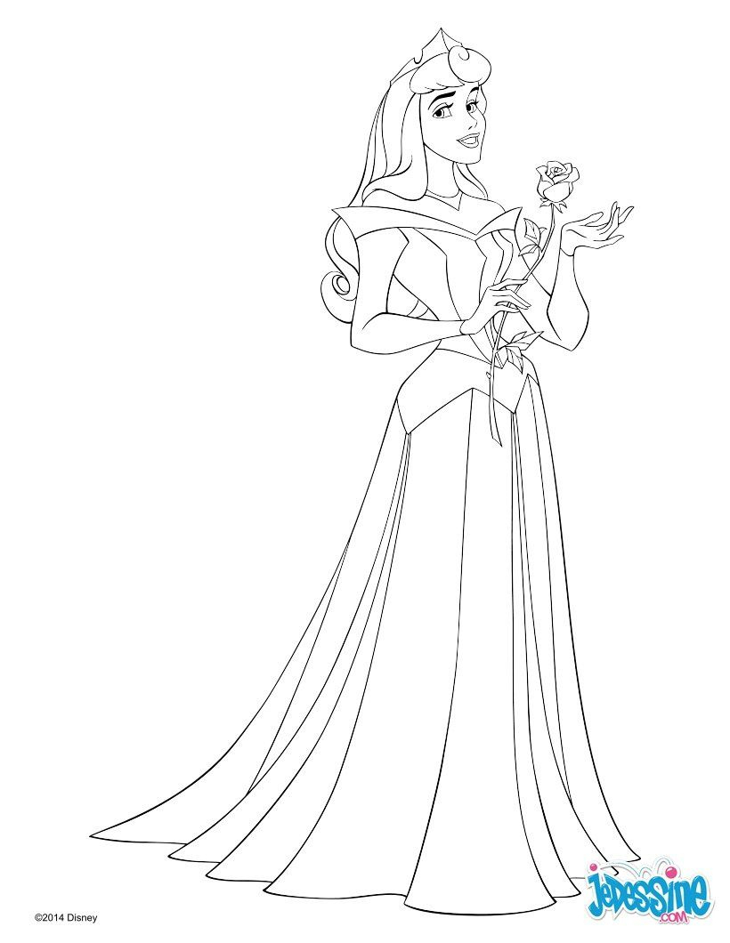 La Belle Au Bois Dormant #coloriageprincesse In 2020 destiné La Belle Au Bois Dormant A Colorier