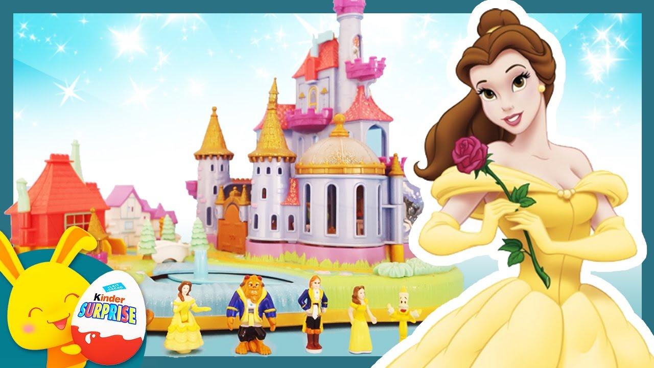 La Belle Et La Bête - Le Chateau Princesse Disney - Jouet Polly Pocket -  Histoire - Touni Toys pour Chateau De Princesse Dessin