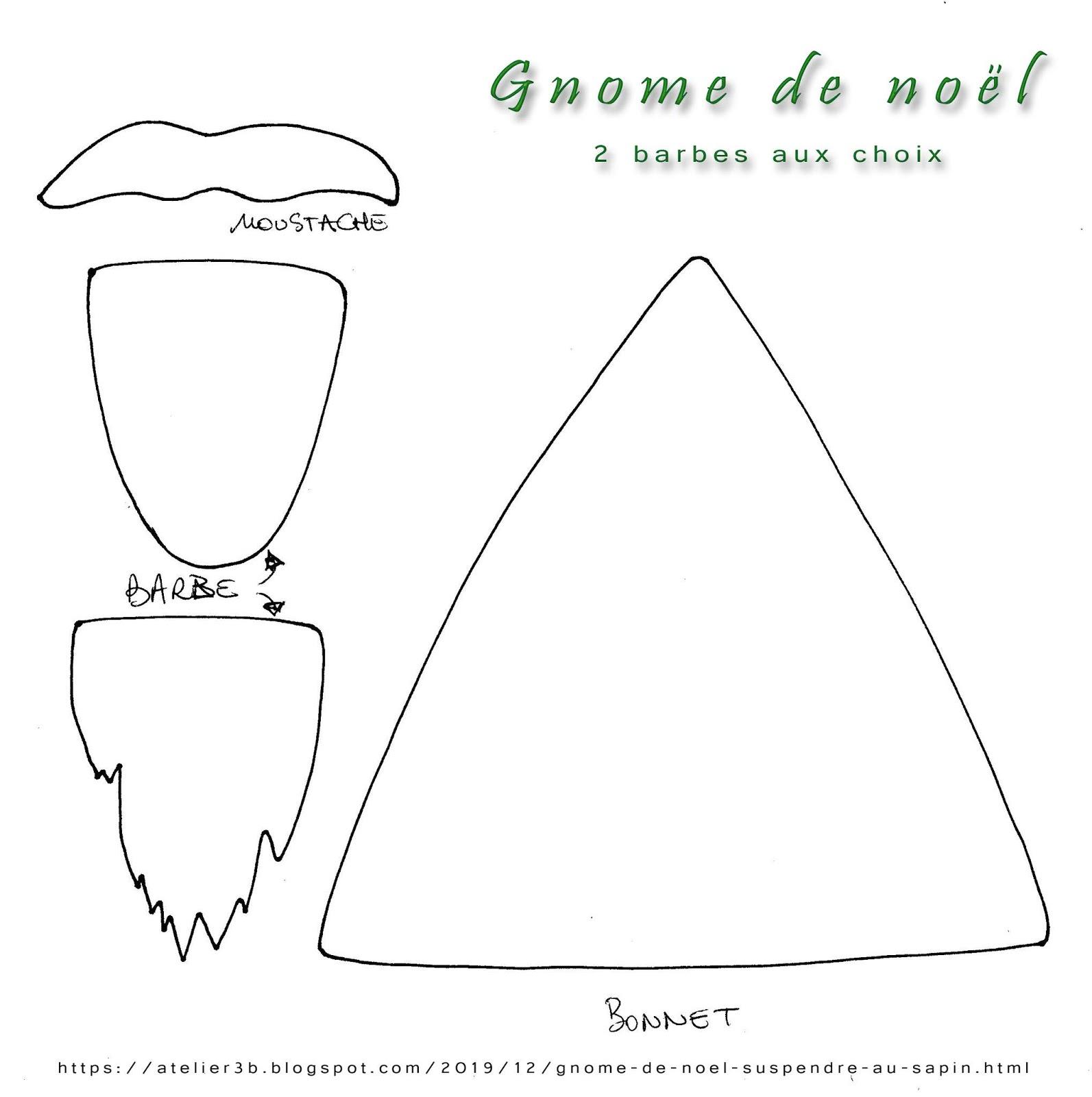 La Boite À Idées De L' Atelier 3B* * *: Gnome De Noël À concernant Gabarit Sapin De Noel