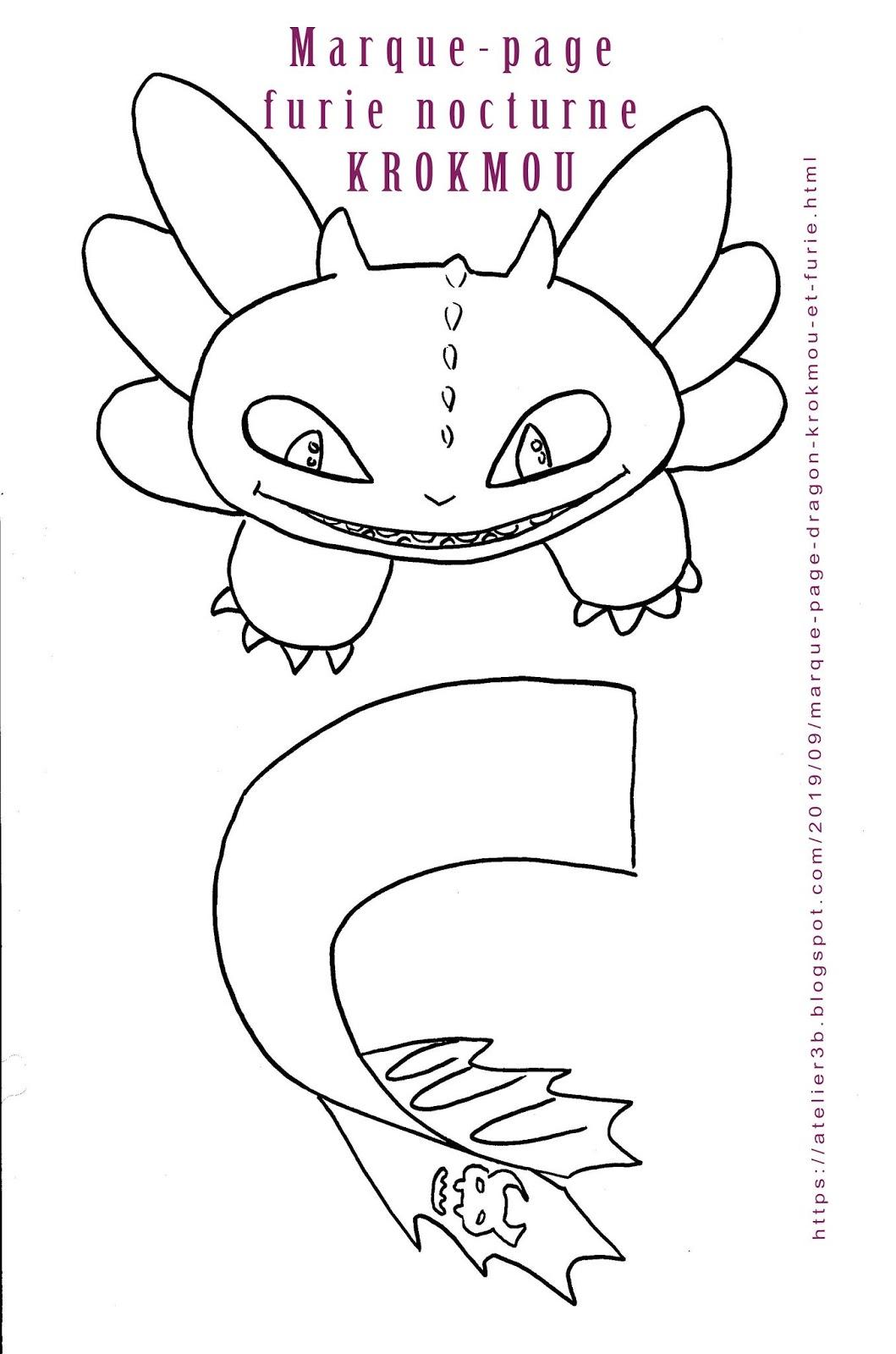 La Boite À Idées De L' Atelier 3B* * *: Marque-Page Dragon intérieur Modele De Marque Page A Imprimer