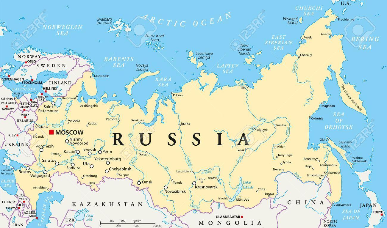 La Capitale De La Russie La Carte - Russie Capital De La à Carte De L Europe Capitales