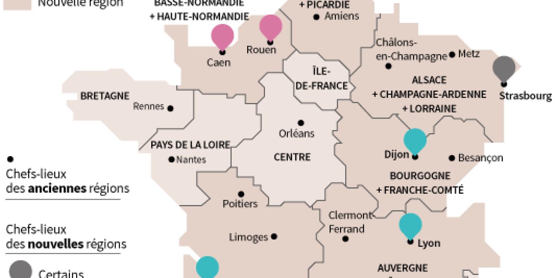 La Carte À 13 Régions Définitivement Adoptée dedans Carte Des 13 Régions