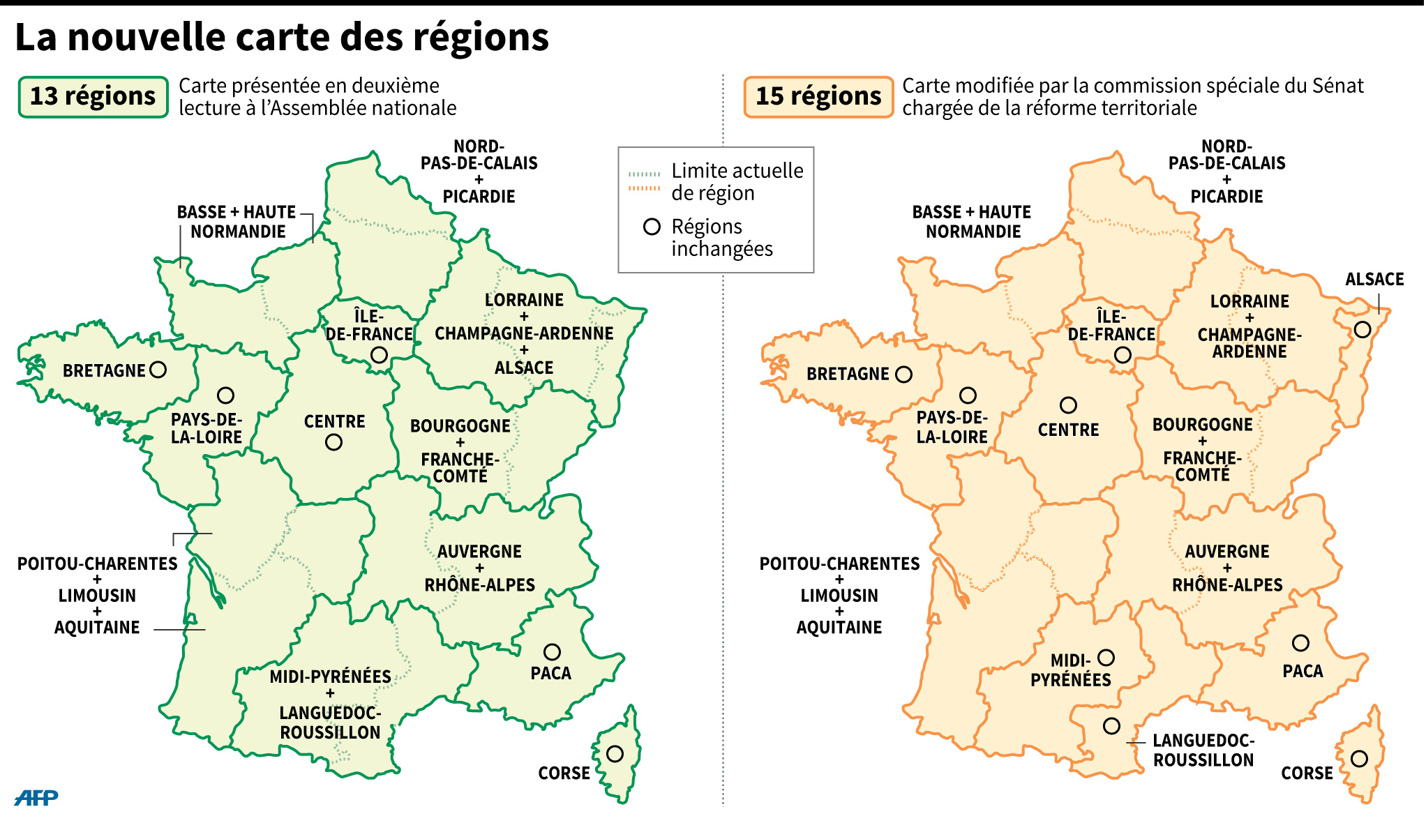 La Carte À 13 Régions Votée À L'assemblée dedans Carte Des Régions De France À Imprimer