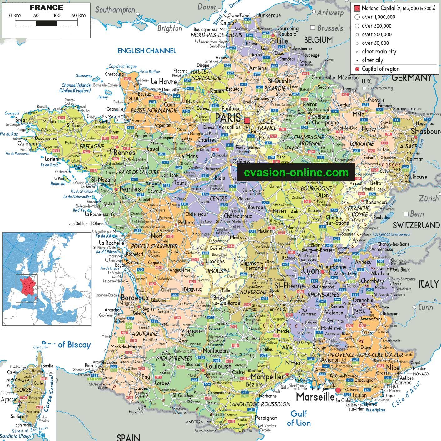 La Carte De France Avec Ses Régions » Vacances - Arts intérieur Carte De France Avec Region