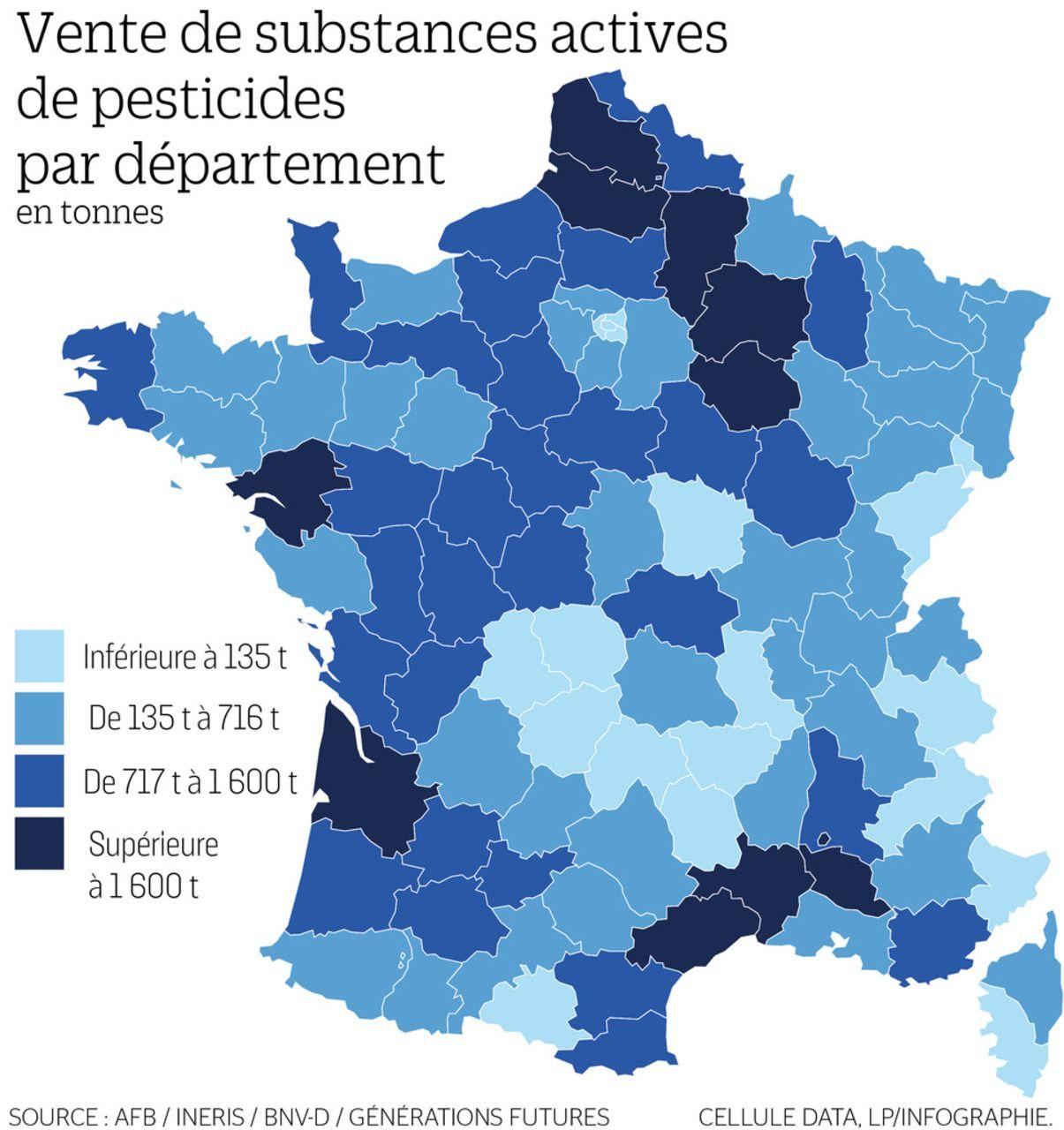 La Carte De France Des Départements Les Plus Consommateurs destiné Carte Avec Les Departement