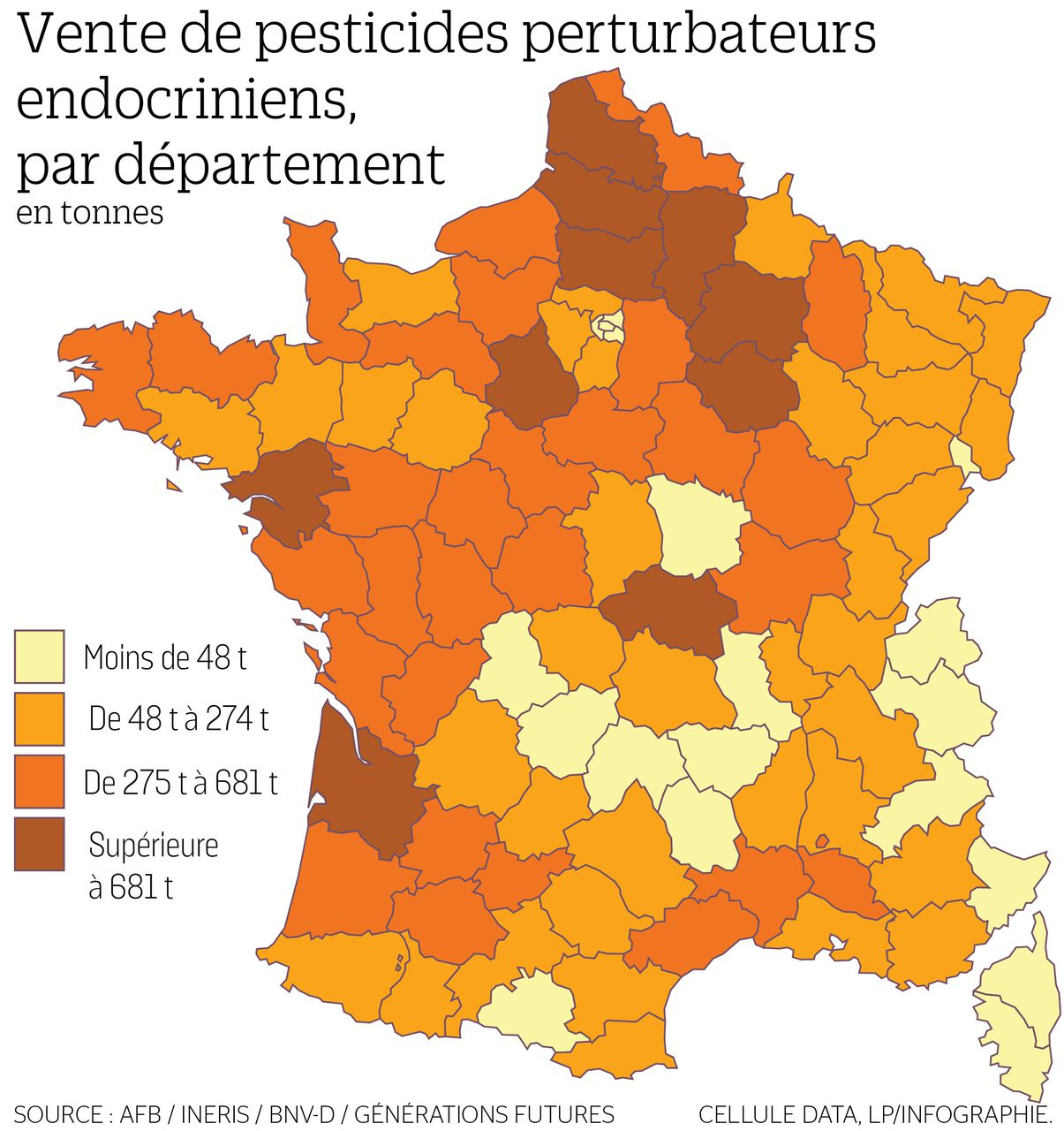 La Carte De France Des Départements Les Plus Consommateurs serapportantà Plan De La France Par Departement