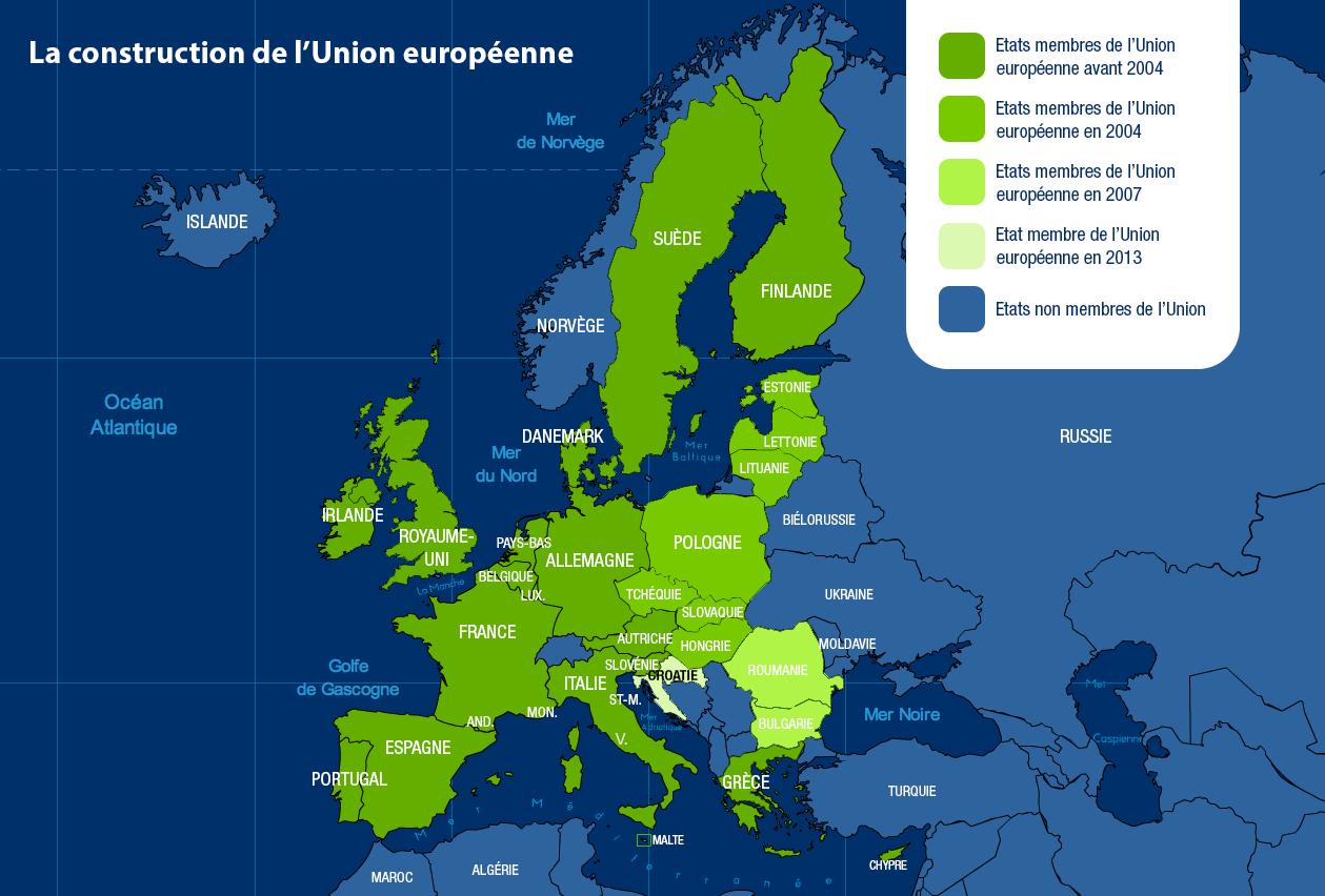 La Carte De L'union Européenne encequiconcerne Carte Union Europeene