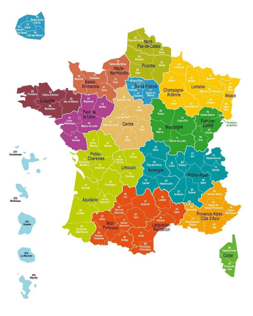 La Carte Définitive Des 13 Régions De France Adoptée À L serapportantà Carte Des Départements De France 2017