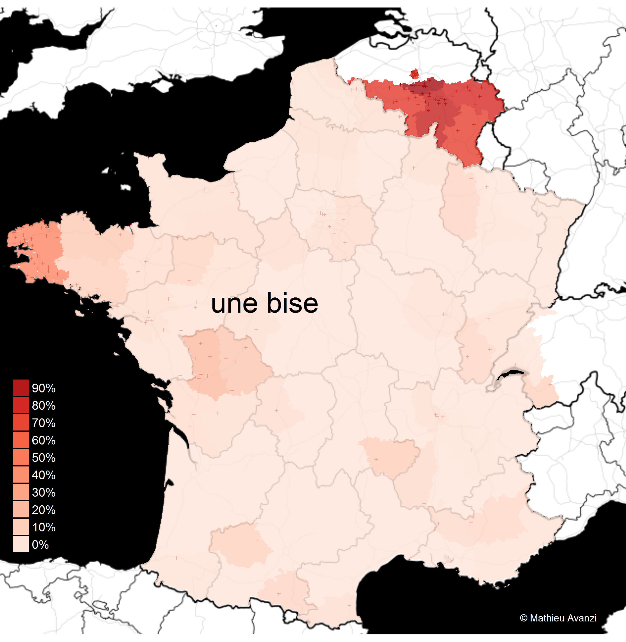 La Carte Des Bises – Français De Nos Régions dedans Mappe De France