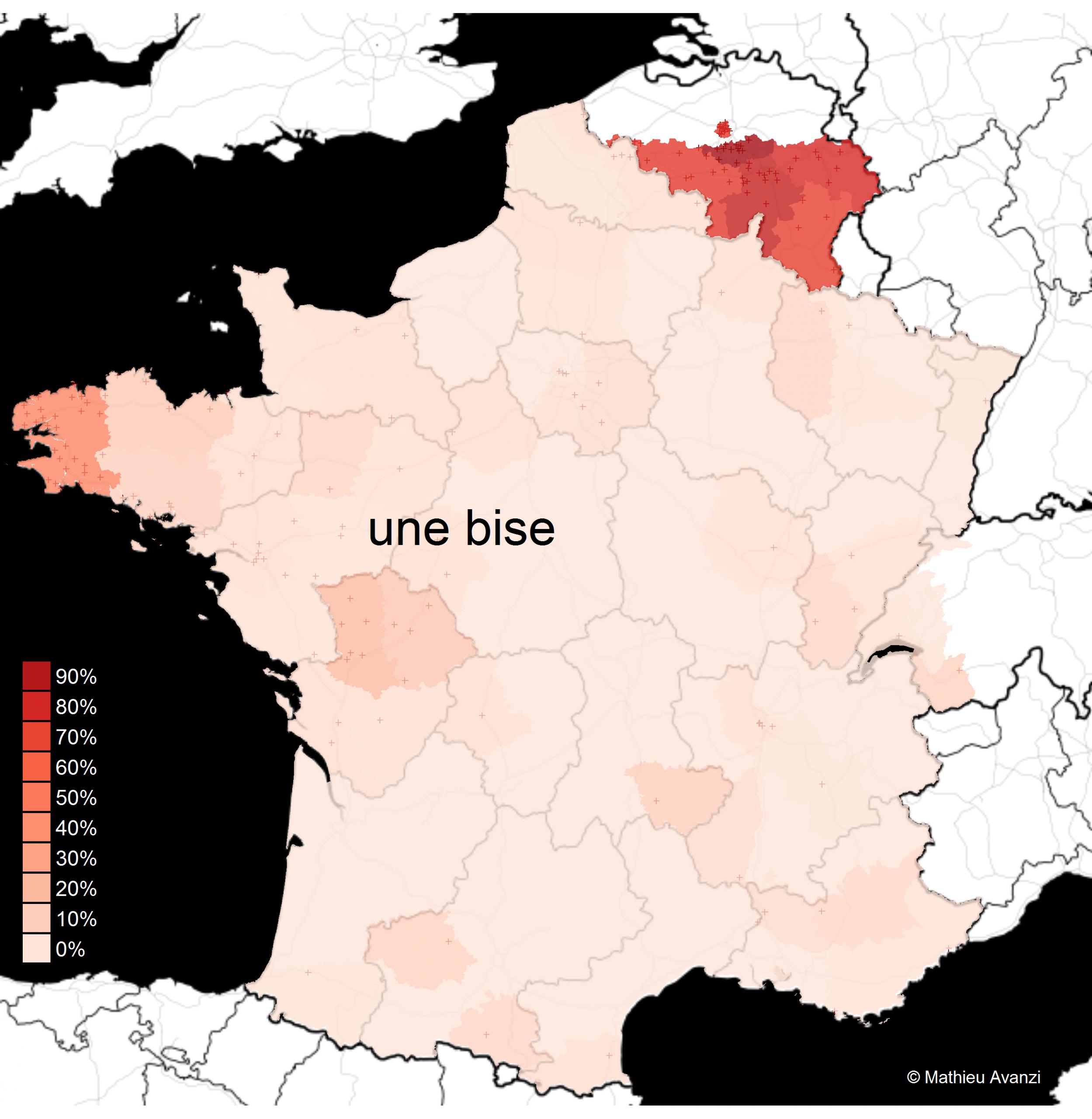 La Carte Des Bises – Français De Nos Régions intérieur Combien De Region En France