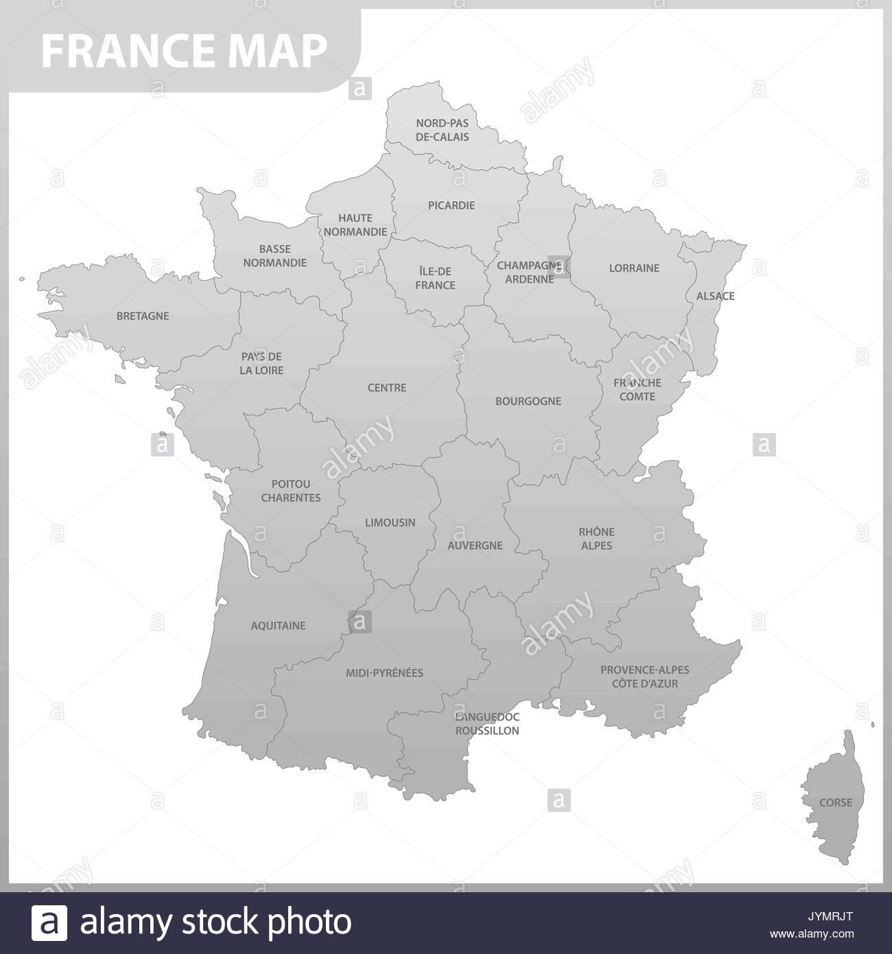 La Carte Détaillée De La France Avec Les Régions Ou États pour Carte De France Avec Les Régions