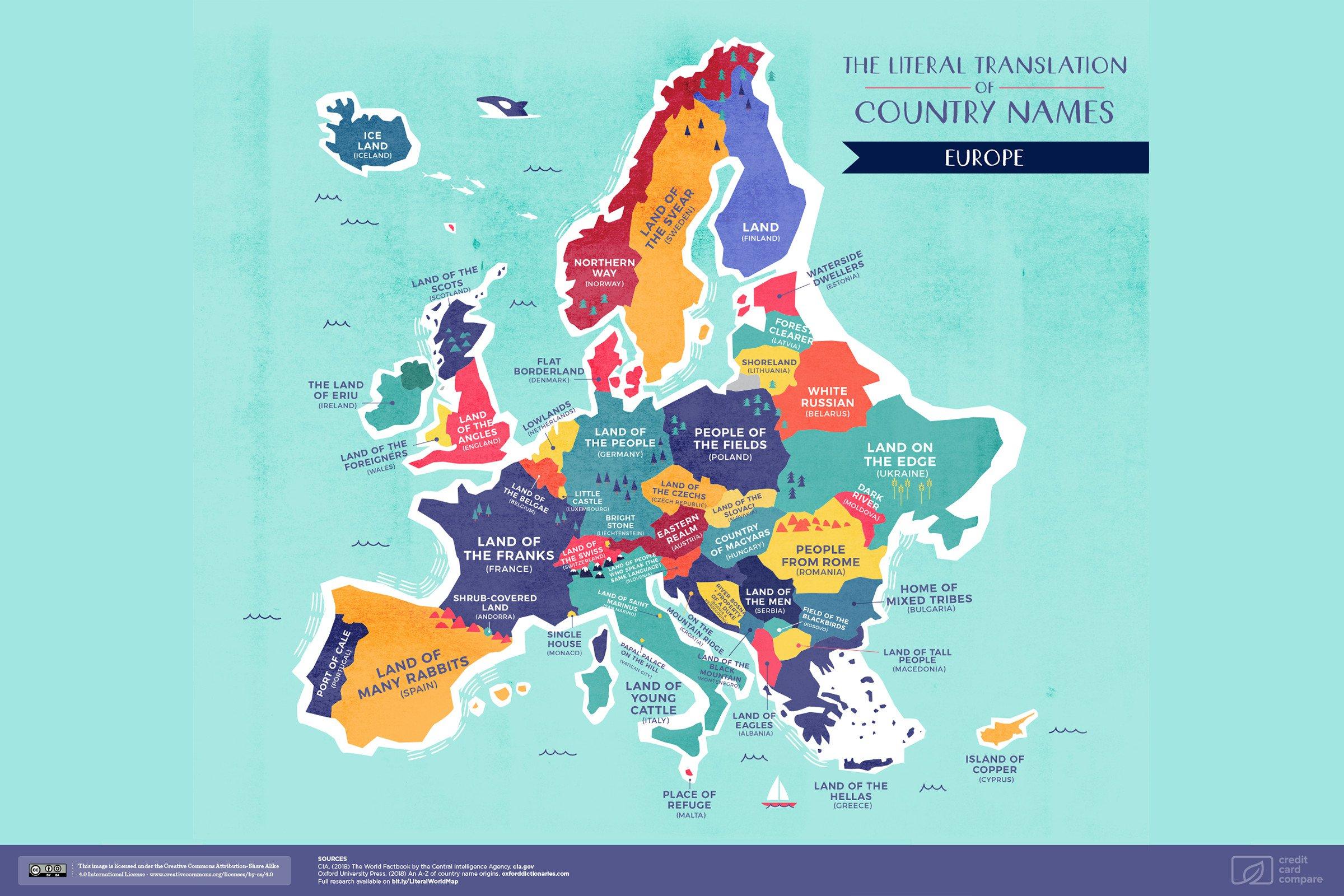 La Carte Du Monde Des Vrais Noms De Pays | Slate.fr encequiconcerne Carte Europe Sans Nom Des Pays