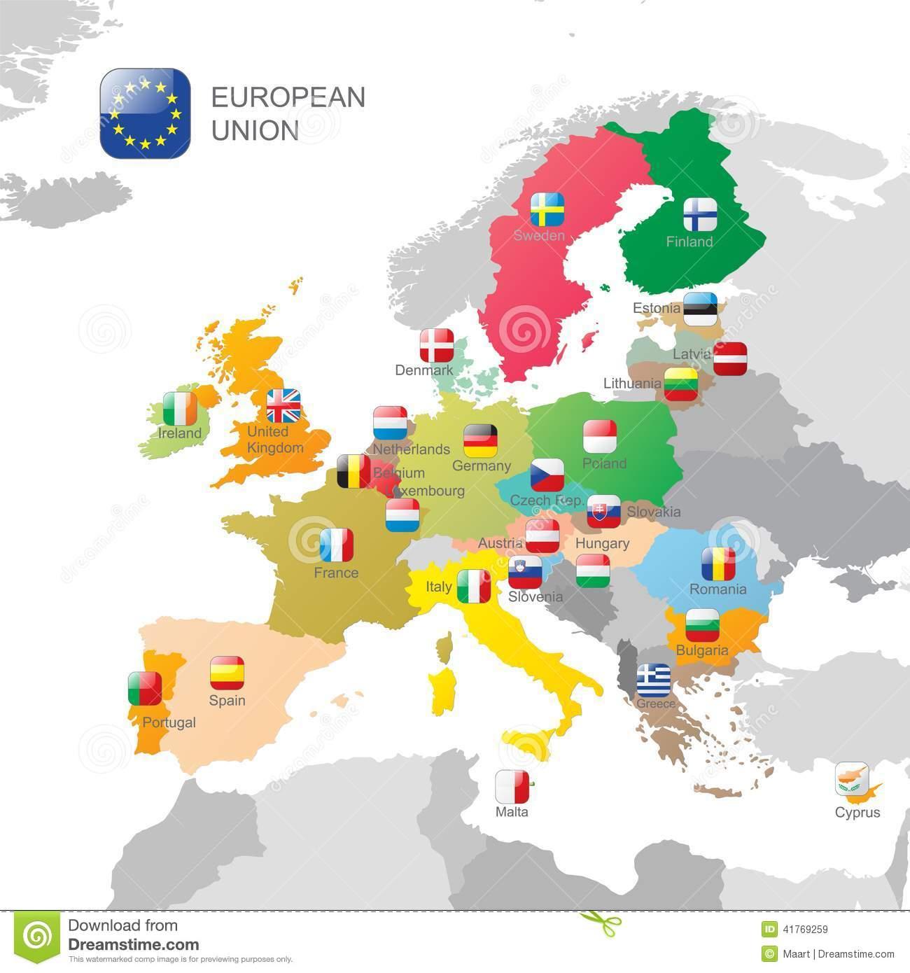 La Carte D'union Européenne Illustration De Vecteur serapportantà Carte Union Européenne 2017