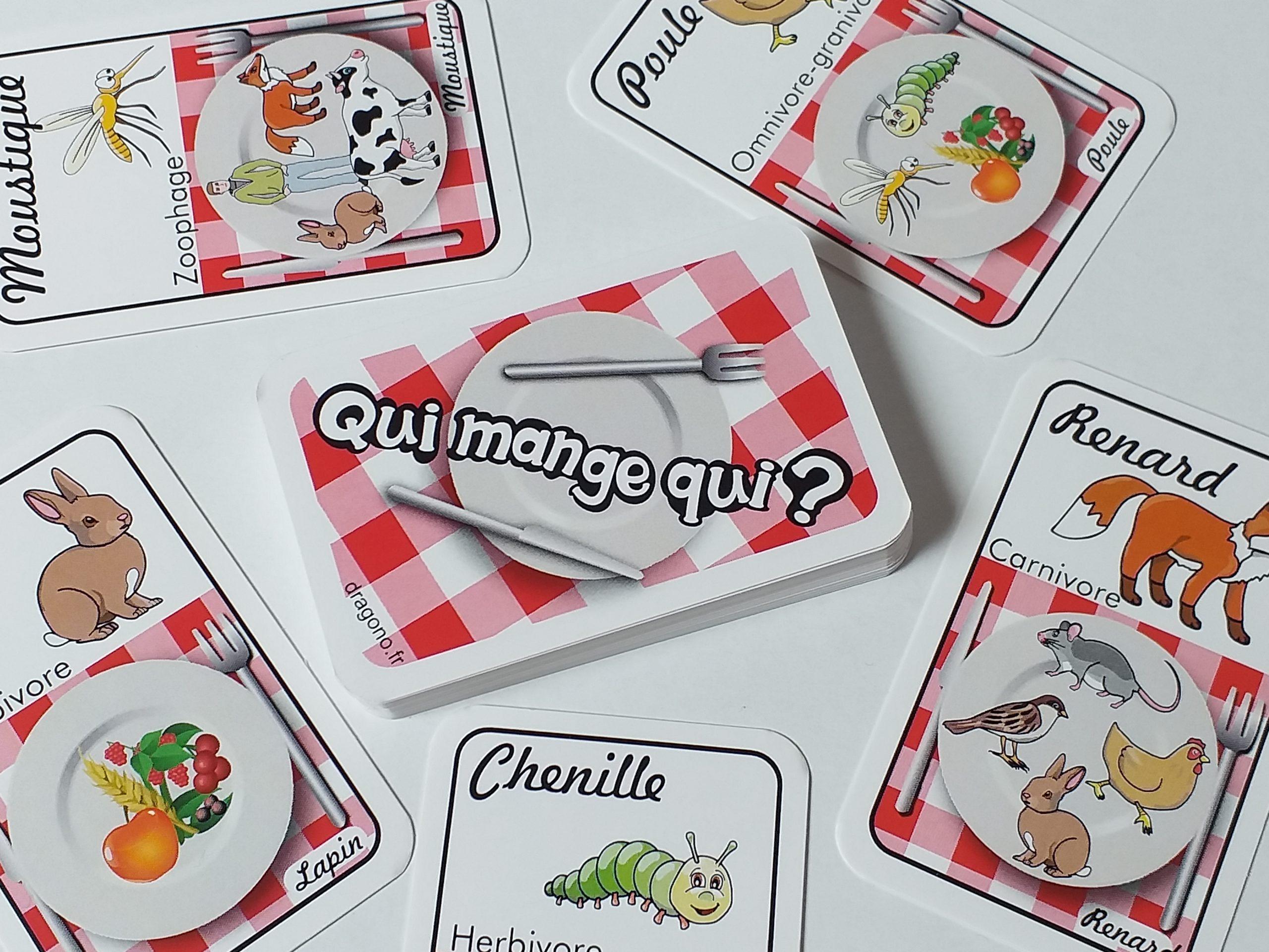 La Chaîne Alimre- Jeu Éducatif Cartes À Imprimer- Qui destiné Jeux Pour Manger