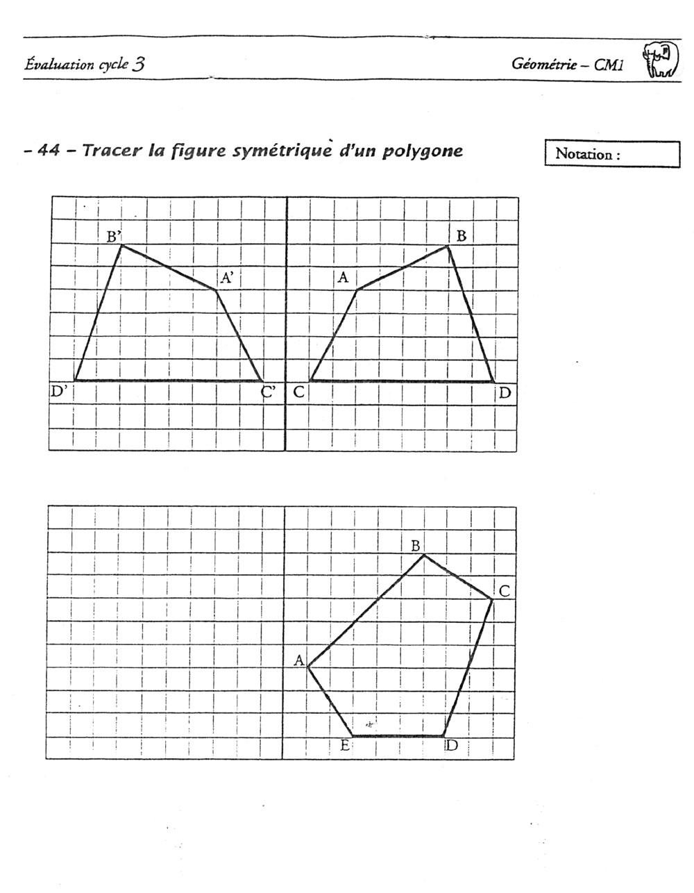 La Classe D'initiation Pour Enfants Non-Francophones concernant Symétrie Cm1 Évaluation