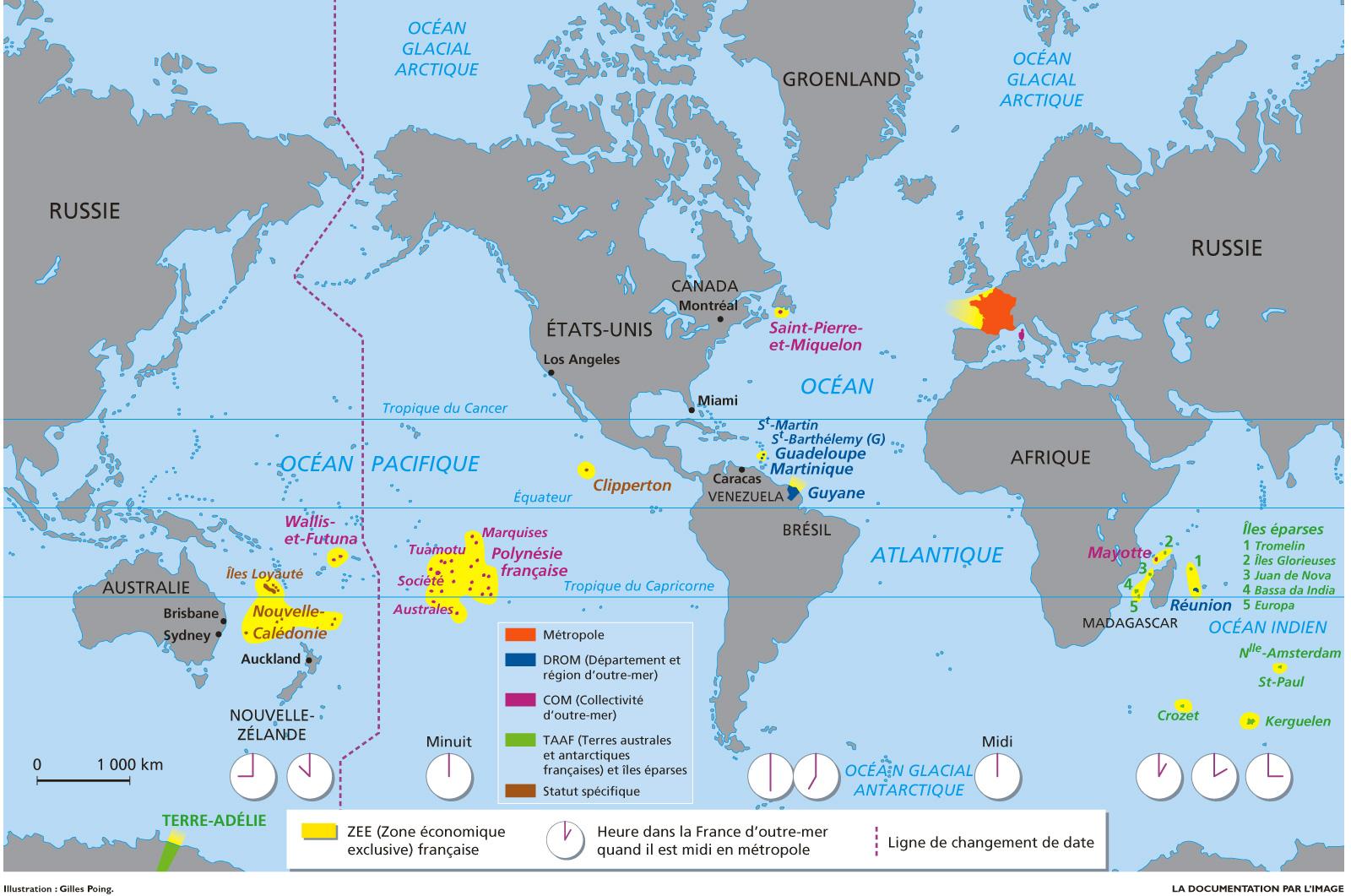 La Délinquance Enregistrée Outre-Mer : Des Situations Très concernant Carte France D Outre Mer