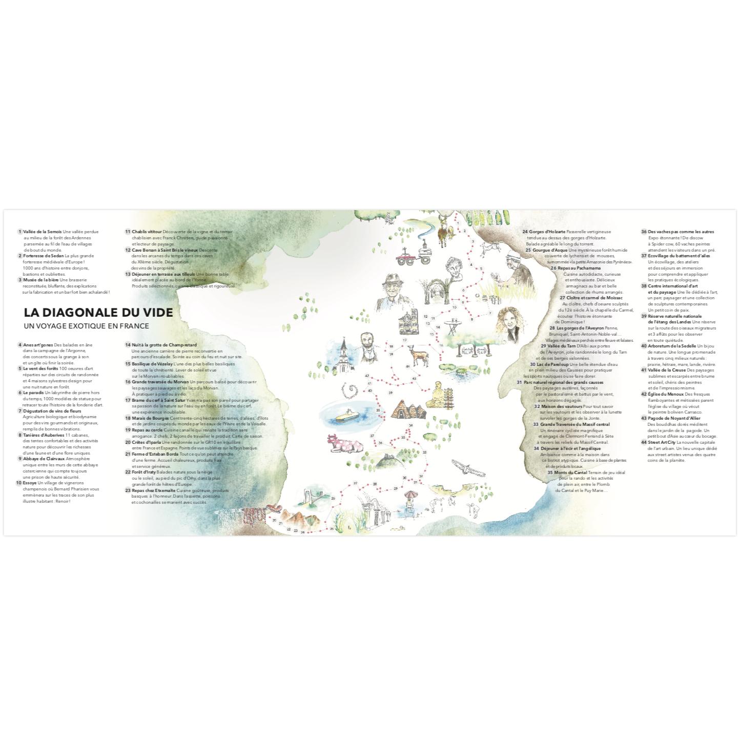 La Diagonale Du Vide - Le Livre Papier pour Carte De France Ludique