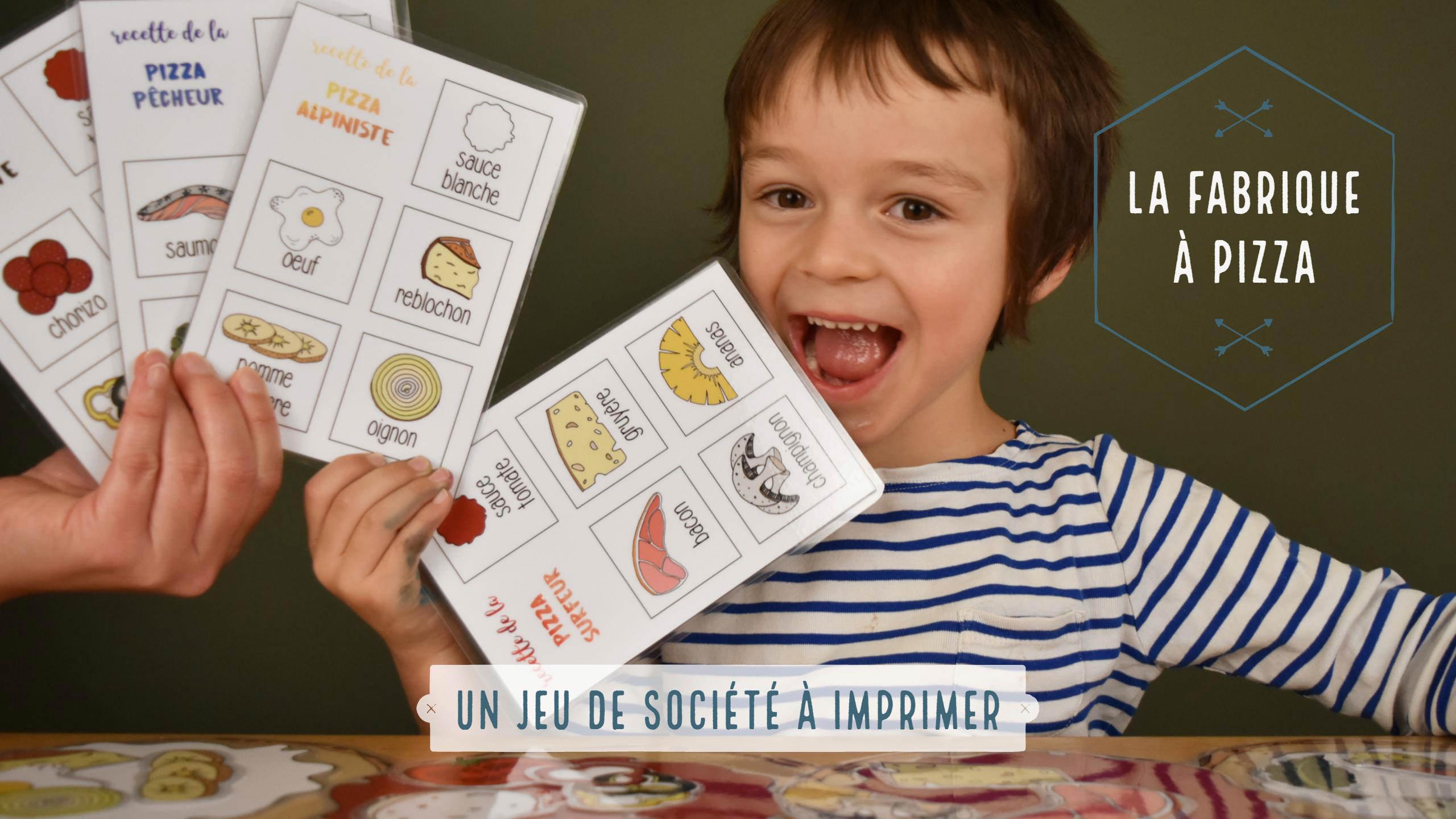 La Fabrique À Pizza , Un Jeu De Société À Imprimer - Be Frenchie avec Jeux De Maternelle À Imprimer