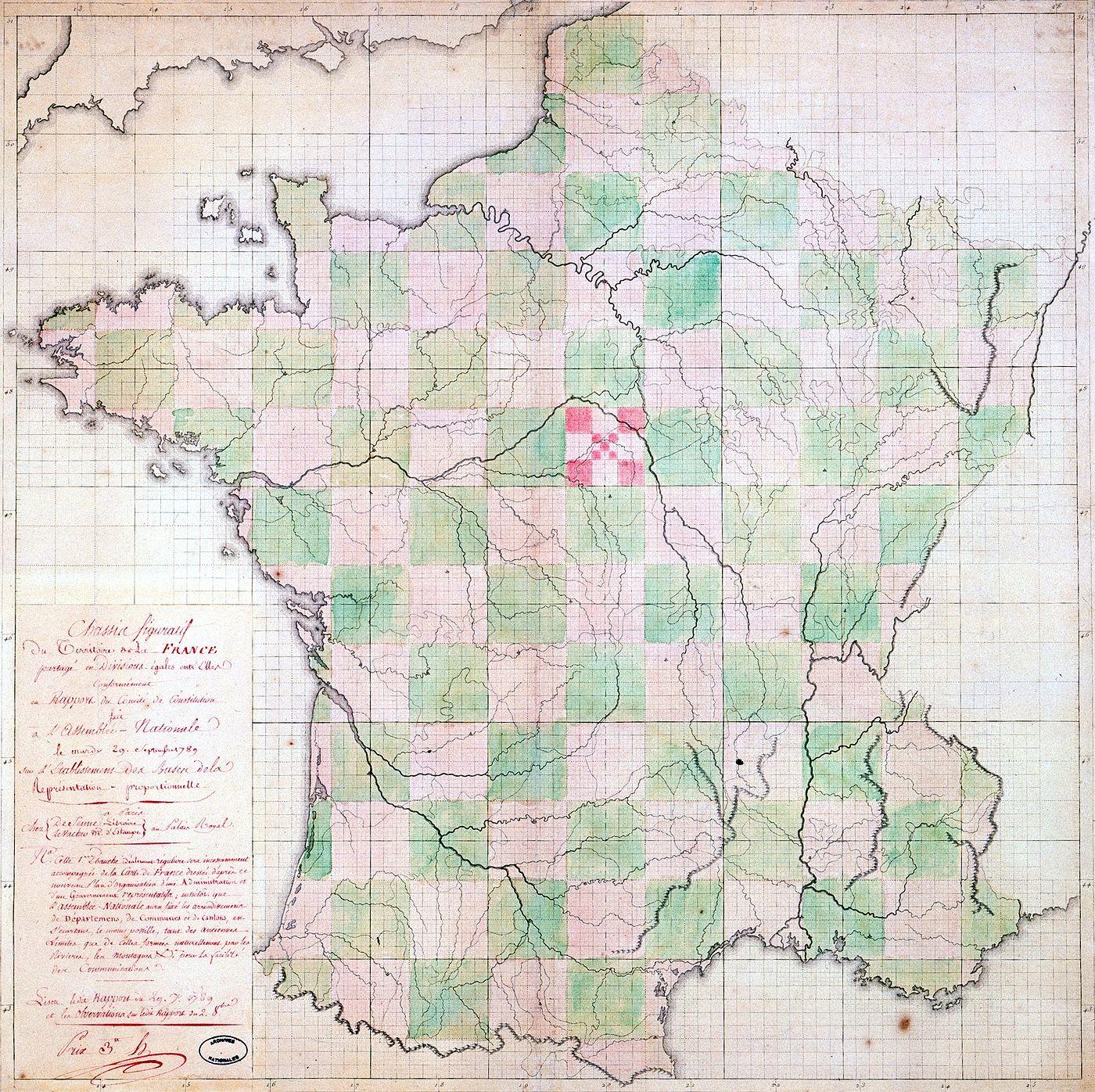 La Formation Des Départements | Histoire Et Analyse D'images serapportantà Carte Departements Francais
