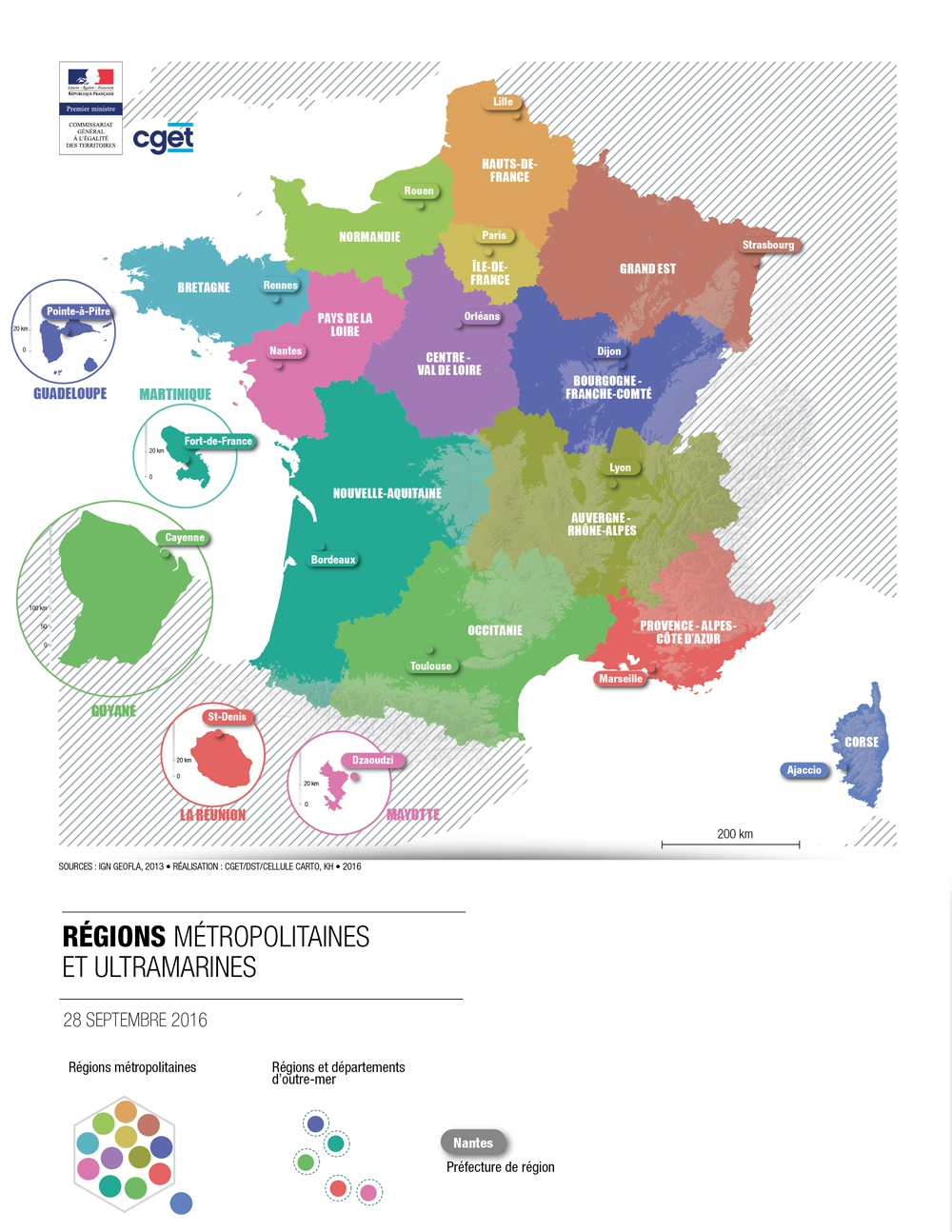 La France Des Nouvelles Régions | Cget à Carte Nouvelles Régions De France