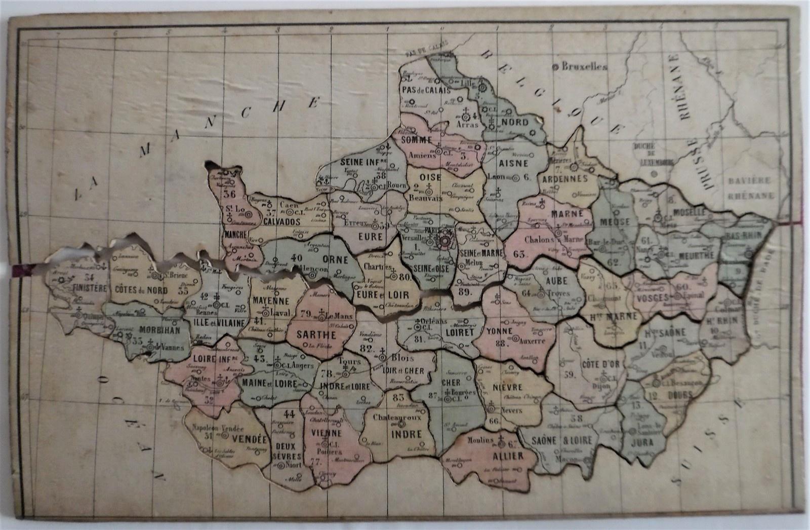 La France En Départements Découpés Se Met Au Loto pour Apprendre Les Départements En S Amusant