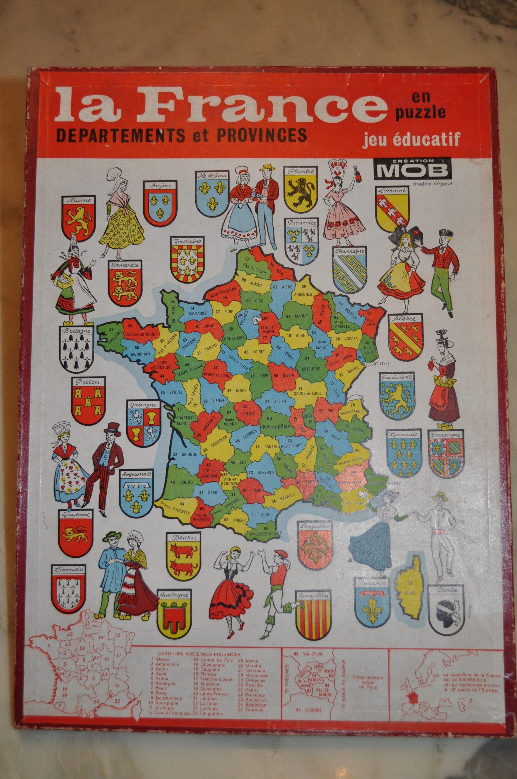 La France En Puzzle - Départements Et Provinces | Jeux De encequiconcerne Puzzle Des Départements Français