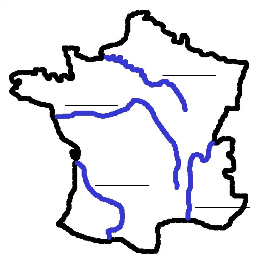 La France Et Les Fleuves, Fleuves De France À Apprendre à Carte De France A Remplir