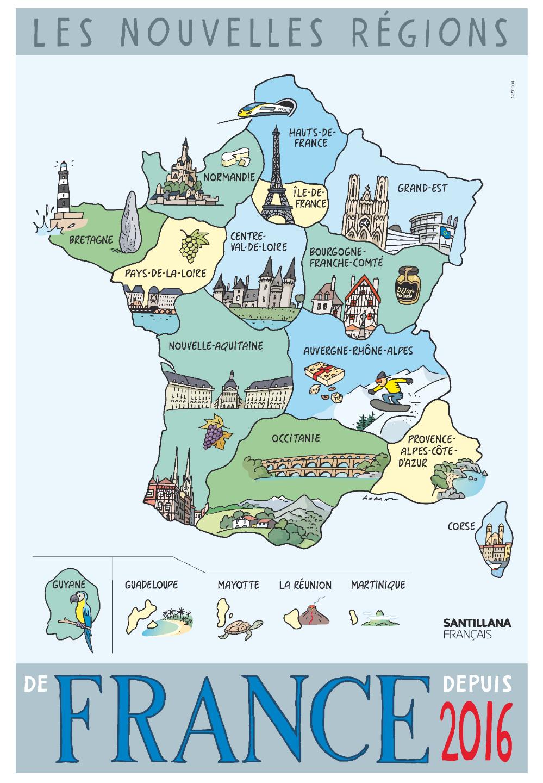 La France Fiches Pédagogiques serapportantà Quiz Régions De France