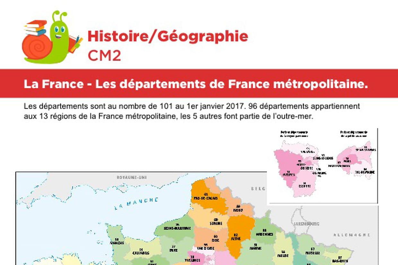 La France, Les Départements De France Métropolitaine destiné Jeux Des Départements Français
