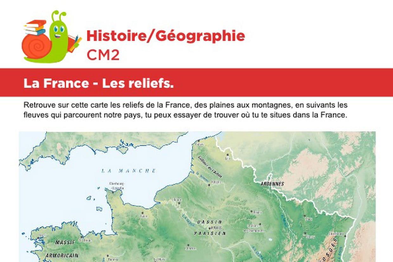 La France, Les Reliefs intérieur Jeu Geographie Ville De France