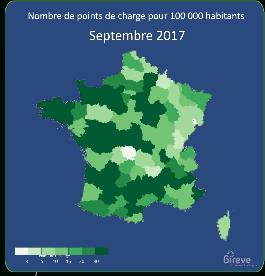 La France Passe Le Cap Des 20 000 Bornes De Recharge Pour à Nombre De Régions En France 2017