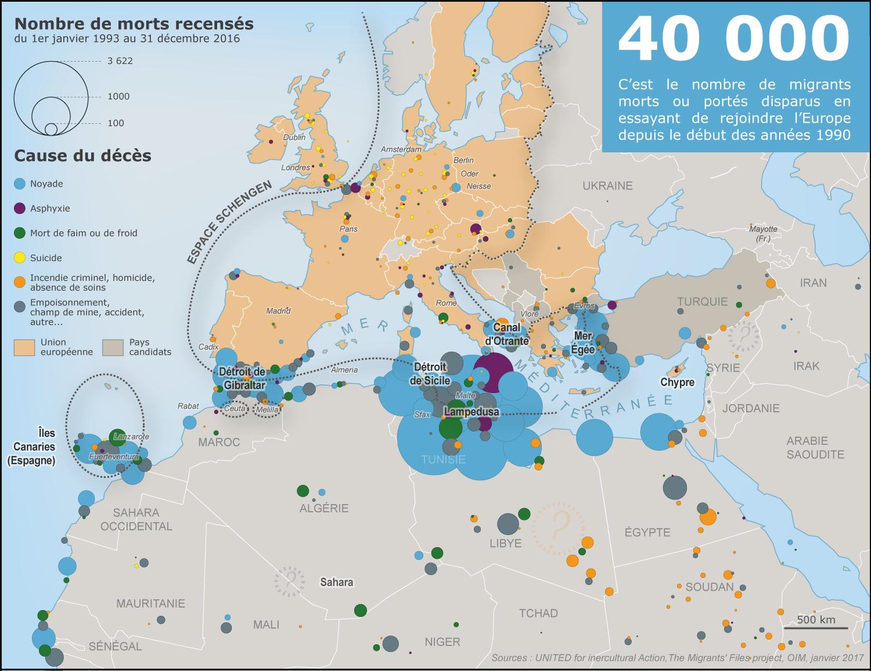 La Frontière Migratoire Européenne – Carnet (Neo)Cartographique serapportantà Carte De L Europe 2017