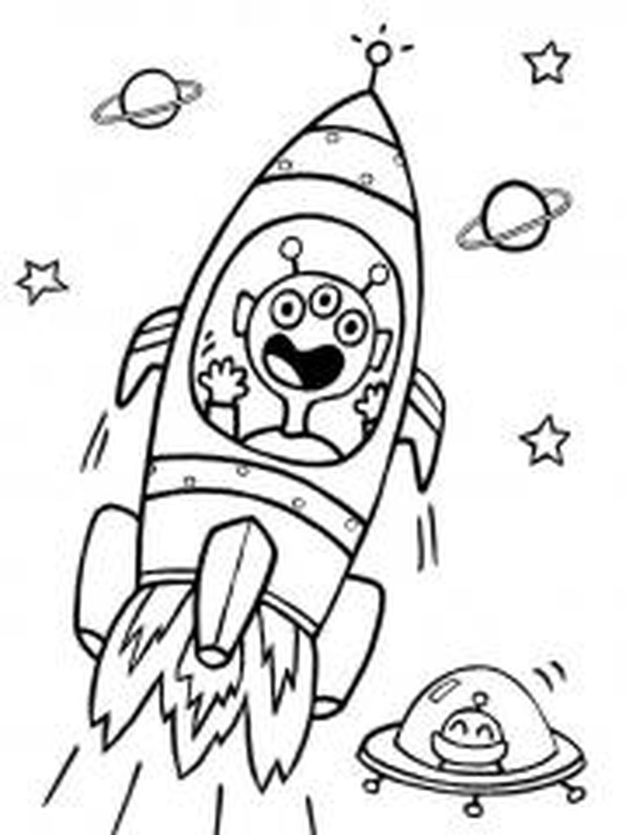 La Fusée Décolle ! destiné Fusée À Imprimer