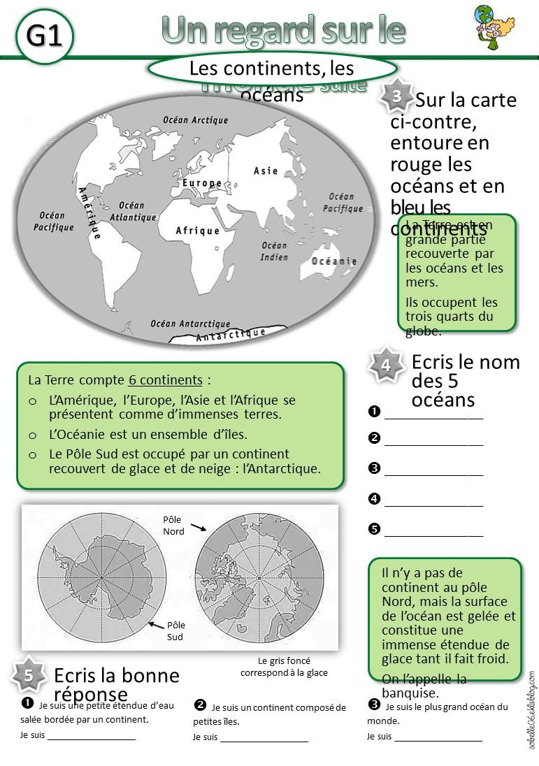 La Géographie À L'école,en Cp, Ce1, Ce2,cm1,cm2, La France avec Fleuves Ce2