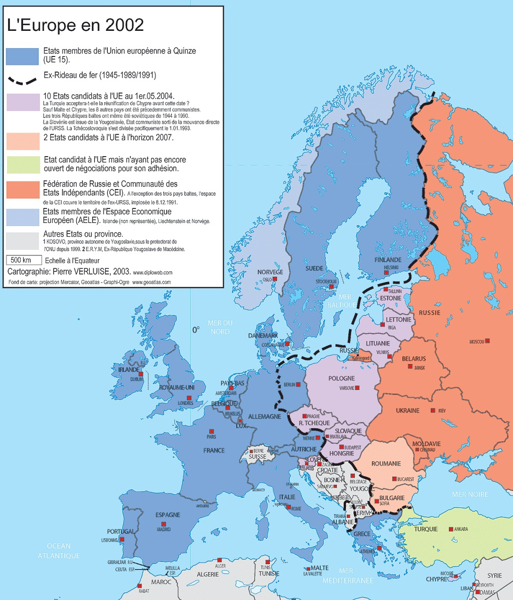 La Géographie De L'europe concernant Carte Géographique De L Europe