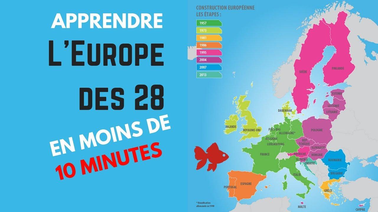La Géographie Facile : L'europe Des 28 - Améliorer Sa Mémoire concernant Apprendre Pays Europe