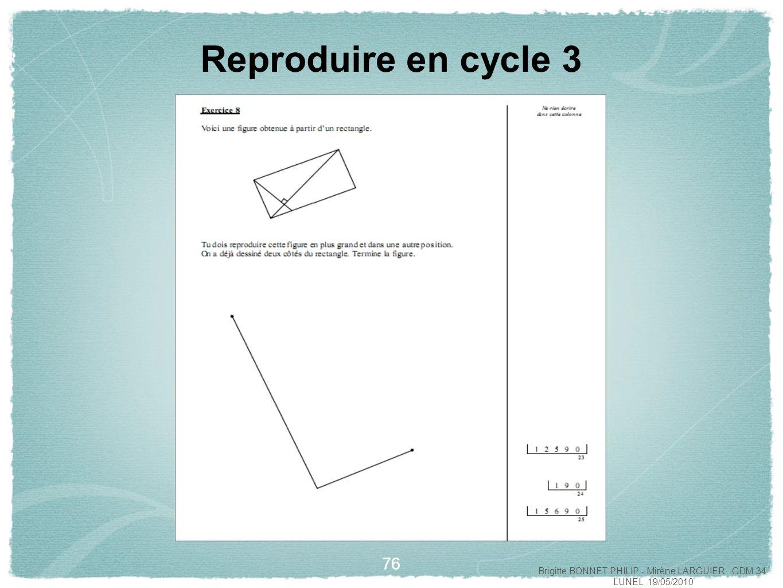 La Géométrie Au Cycle 2 Et Au Cycle 3 - Ppt Video Online intérieur Reproduire Une Figure