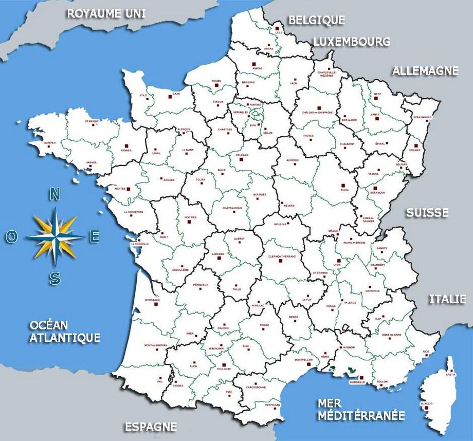 La Grande Carte De France | My Blog avec Grande Carte De France À Imprimer