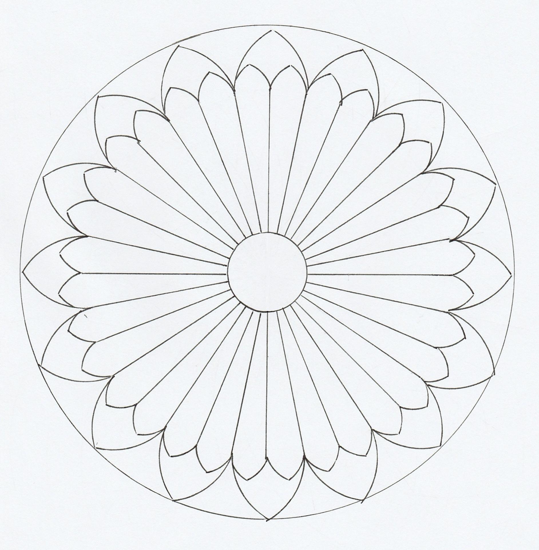 La Grande Rose avec Dessiner Une Rosace